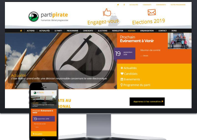 Site vitrine : Parti Pirate Vaudois