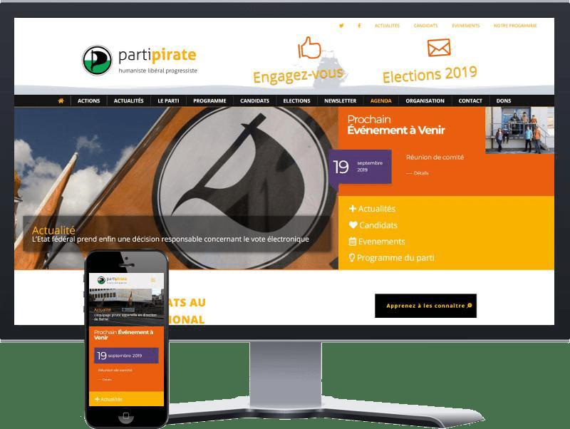 Site vitrine : Parti Pirate Vaudois