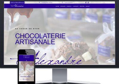 Site vitrine : Chocolaterie Alexandre